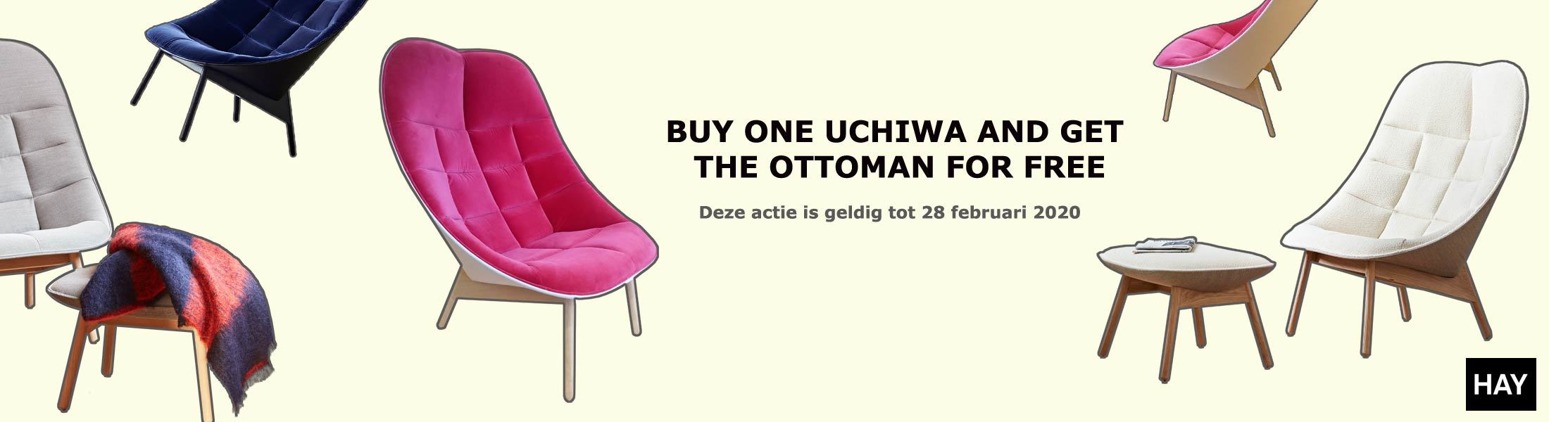 Uchiwa HAY aanbieding gratis ottoman