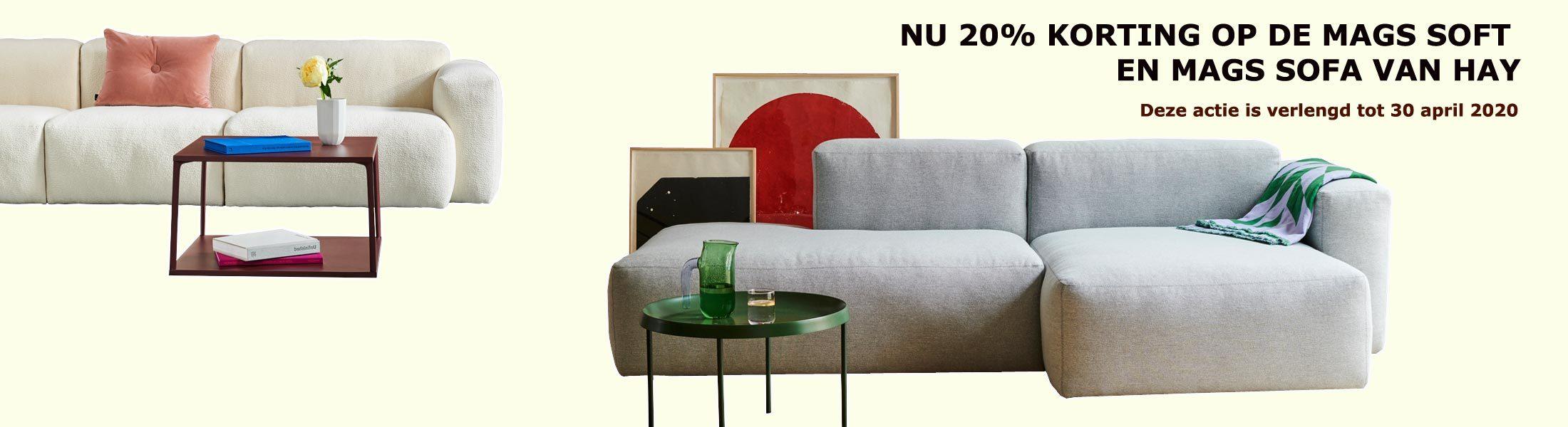 aanbieding mags soft sofa HAY -20%
