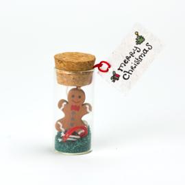 kerstflesje gingerbreadman 5cm