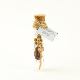 Droogbloem goud 11cm