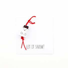 Cadeau kaartje let it snow