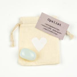 Knuffelsteen Opaliet natural
