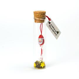 kerstflesje kerstman 11cm