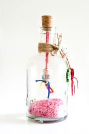 Geluksfles XL roze