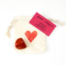Knuffelsteen- Rode Jaspis natural
