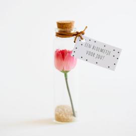 Bloemenflesje bloemetje voor jou