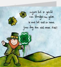 P68 geluk -gedicht kaart