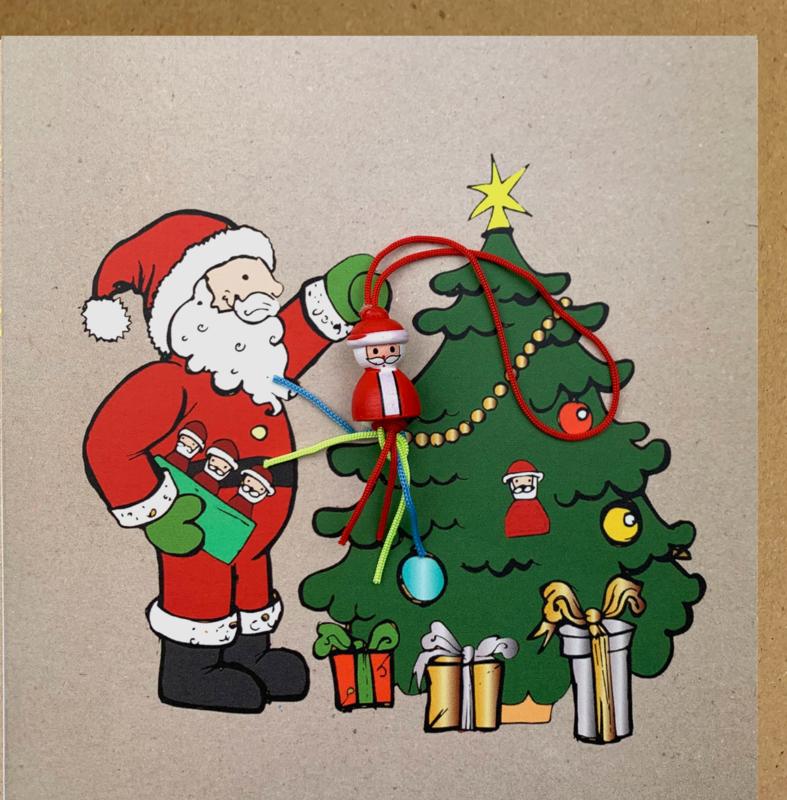 Wenskaart kerstman