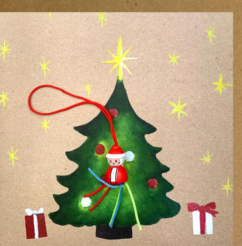 Wenskaart kerstboom