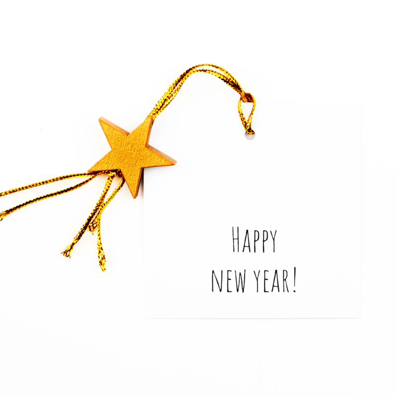 Cadeau kaartje happy new year!