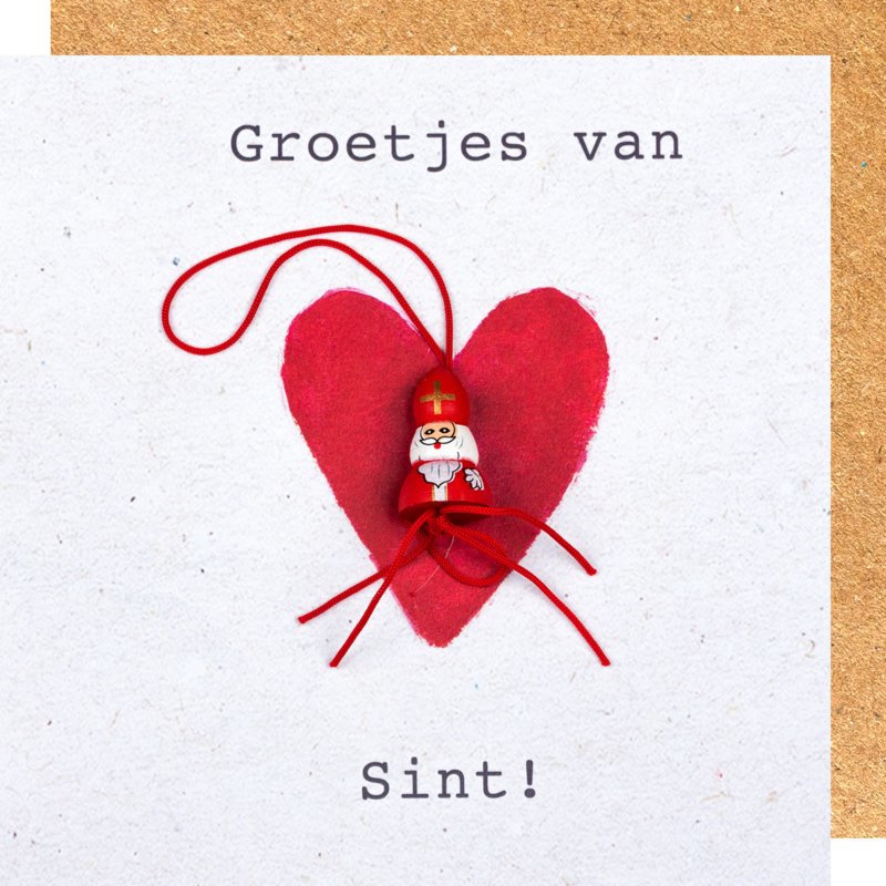 Wenskaart groetjes van Sint