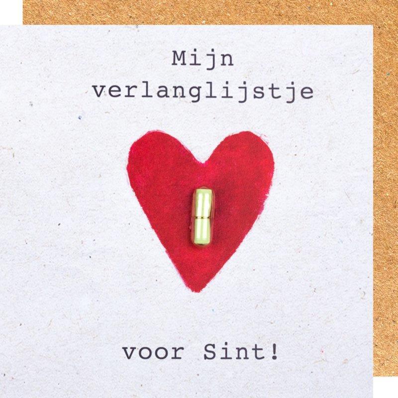 Wenskaart Sint verlanglijstje