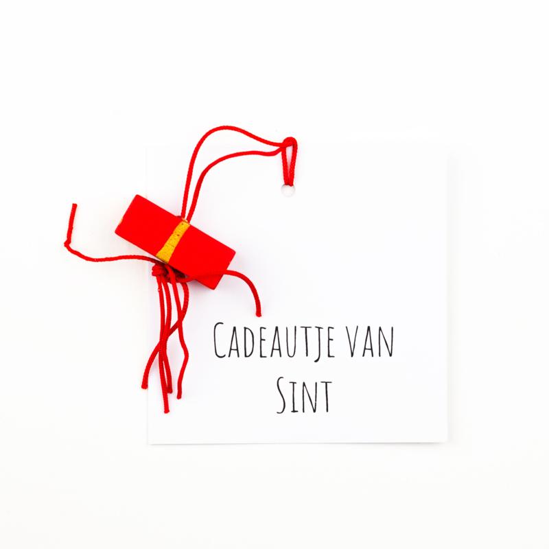 Cadeau kaartje Sint cadeautje