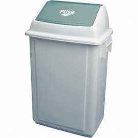 Afvalbak met tuimeldeksel - 40 liter wit