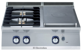 Electrolux gasgloeiplaat fornuis 340x590 en 2 open branders