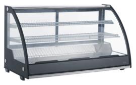 Multinox gekoelde opzetvitrine met gebogen glas - 201 liter