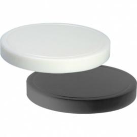 Snijplank polyethyleen met geul - zwart - Ø37