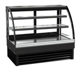 Multinox opzet koelvitrine zwart - 236 liter