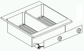 Drop-in elektrische friteuse 2 x 10 liter
