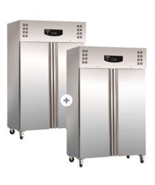 Multinox koel- en vrieskast - 2 x 1200 liter