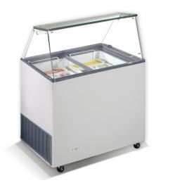 Multinox schepijsvitrine  - 231 liter