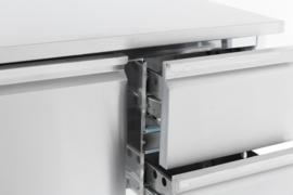 Multinox koelwerkbank - 1 deur 2 laden - 900 mm breed