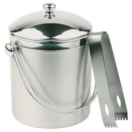 RVS ijsemmer met tang - 1 liter