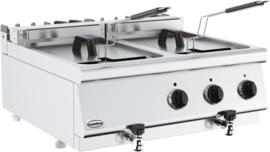 Tafelmodel elektrische friteuse - 2 x 10 liter