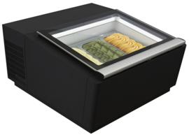 Tafelmodel schepijsvitrine 3 x 5 liter - opening bedieningszijde