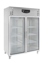 Multinox RVS dubbeldeurs koelkast met glasdeur