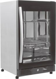 Barkoeling zwart - 1 glasdeur