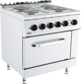 Multinox elektrische kooktafel 700 mm 4 platen elektrische oven