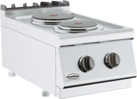 Tafelmodel elektrische kooktafel 400 V - 2 kookpitten