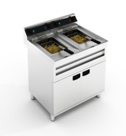 Multinox elektrische friteuse - 2 x 12 liter - 400 V 2 x 6 kW