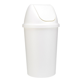 Afvalbak met tuimeldeksel - 45 liter wit
