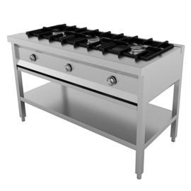 Multinox pannenkoekentafel - 3 pits