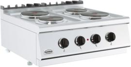 Tafelmodel elektrische kooktafel 400 V - 4 kookpitten