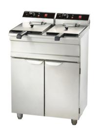 Multinox elektrische friteuse - 2 x 9 liter