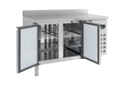 Multinox koelwerkbank - 2 deurs met opstaande rand