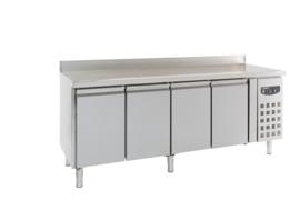 Multinox koelwerkbank - 4 deuren met opstaande rand