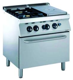 Multinox kookplaatfornuis met gas oven