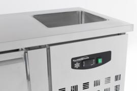 Multinox koelwerkbank - 3 deuren + spoelbak