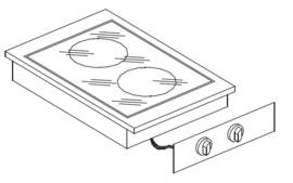 Drop-in keramische kookunit