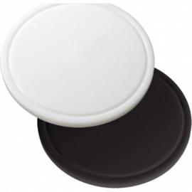 Snijplank polyethyleen met geul - zwart - Ø30