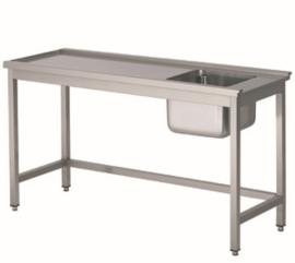 Spoelkeuken aanvoertafel (links van de machine)