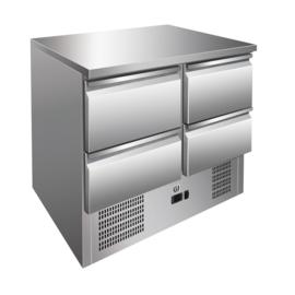 RVS koelwerkbank 4 laden