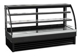 Multinox opzet koelvitrine zwart - 400 liter