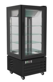 Multinox gebaksvitrine zwart - 280 liter