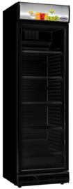 Glasdeur koelkast 382 liter zwart