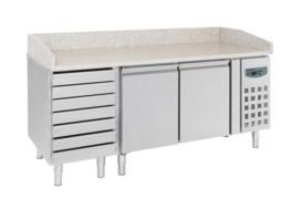 Multinox Pizza koelwerkbank met 2 deuren en lades
